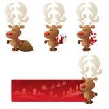 Starta en sida med Rudolph stock illustrationer