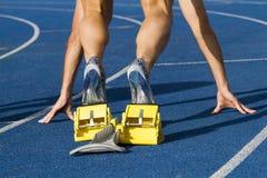 starta för sprinter Arkivbild