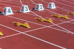 Starta linjen av för att sprinta arkivfoto