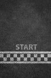 Starta linjen tävlings- bakgrund Arkivfoto