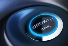 Starta om igen eller stimulera ekonomi, tillväxtmotor stock illustrationer