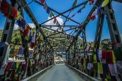 Starta punkt till den Annapurna strömkretsen, Nepal Fotografering för Bildbyråer