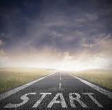 Starta raksträckan för affär Fotografering för Bildbyråer