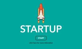 Starta upp affärsrengöringsdukbegreppet Arkivbild