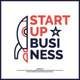 Starta upp Inkomst och framgång Affär Infographics Royaltyfri Bild