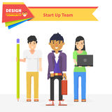 Starta upp Team Design Community Arkivbilder