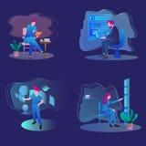 Starta upp vektordesignen vektor illustrationer