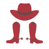startar cowboyhatten vektor illustrationer