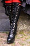 startar gotiskt läder Fotografering för Bildbyråer