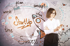Startconcept stock afbeelding