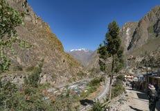 Starten av Inca Trail royaltyfria foton