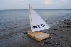 Starten meiner neuen Website stockbild