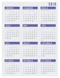 2019 starter för kalendervecka på söndag stock illustrationer