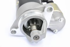 Starter motor on an isolated background Royalty Free Stock Photography