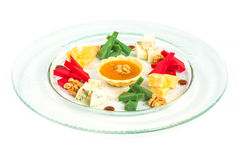 Starter platter with appetizers. royalty free stock photo