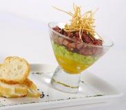 Starter: Raw Tuna, Avocado and Mango Royalty Free Stock Images