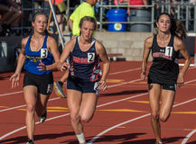 Starters. Track and field action at the northern California championships in Cottonwood, California Stock Images