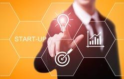 Startfinanzierungscrowdfunding-Investitions-Risikokapital-Unternehmergeist-Internet-Geschäfts-Technologie-Konzept lizenzfreie stockfotografie