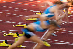 Starting. Block in track and field Royalty Free Stock Photo