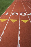 Starting Area Of Track And Field Stock Photos