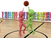Starting a basketball game №2 Stock Image