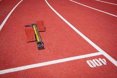 Starting block. Royalty Free Stock Photos