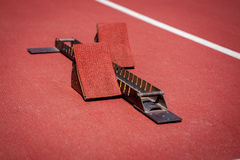 Starting block. Royalty Free Stock Photo