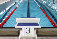 Starting block position number three stock images