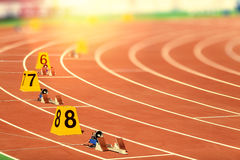 Starting block in track and field Stock Images