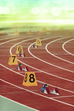 Starting block in track and field Stock Image