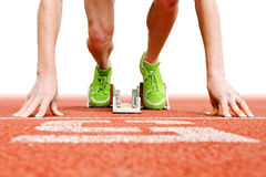At the Starting blocks Royalty Free Stock Images