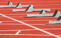 Starting blocks Royalty Free Stock Photos