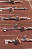Starting blocks. In track and field Royalty Free Stock Photos