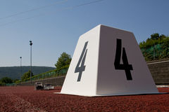 Starting blocks. In track and field Royalty Free Stock Images