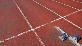 Starting blocks. In track and field Royalty Free Stock Photography