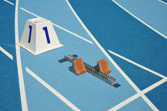 Starting blocks Stock Images