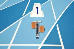 Starting blocks Royalty Free Stock Photography