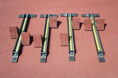 Starting blocks. Royalty Free Stock Photo