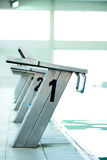Starting blocks in a row Stock Image
