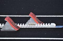 Starting Blocks on Track Stock Photos