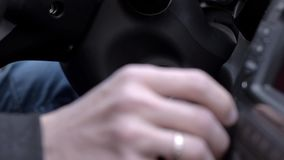 Starting car engine. A man starting car engine stock video footage
