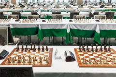 Starting chess tournament Royalty Free Stock Images