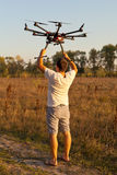 Starting copter Stock Photography