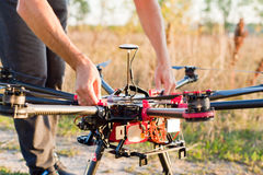 Starting copter Royalty Free Stock Images