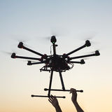 Starting copter Royalty Free Stock Photography