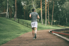 Starting day from morning jog. royalty free stock photography