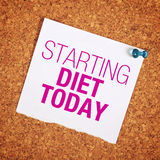Starting Diet Today Stock Image
