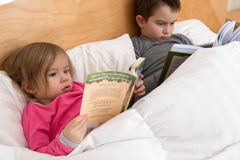 Starting Early to Gain Reading Habits Stock Photos