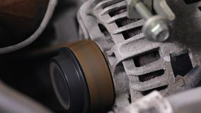 Engine Starting Up stock video footage