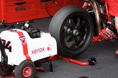 Starting Engine Ducati 1998 Xerox team royalty free stock photography
